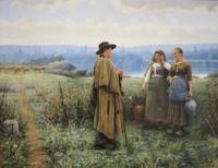 An Idle Moment by Daniel Ridgway Knight, circa 189