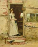 CHARLES NAPIER HEMY England 1841-1917 Daydreaming