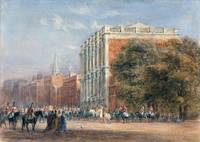 David Cox,A royal procession with Queen Victoria