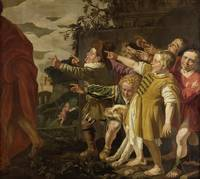Elisha Mocked by Boys, attributed to Roeloff van Z