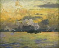 Frederick Judd Waugh 1861-1940 Jersey City at Suns