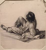 George Caleb Bingham, Young boy drawing