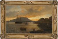 Gude, Hans Fredrik (1825-1903) Summernight by Drøb