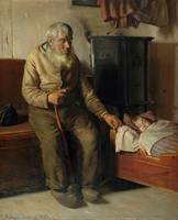 Michael Peter Ancher, Blind Kristian Minding a Chi