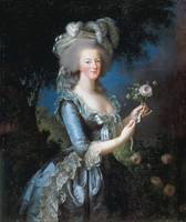 Marie-Antoinette with the Rose Marie-Antoinette di
