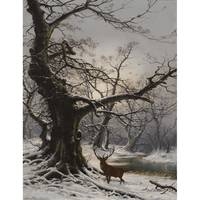 NILS HANS CHRISTIANSEN (DANISH 1850-1922) STAG IN