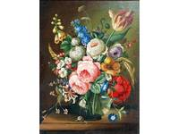 Parry Prinx,  Still Life - Glass bowl of flowers o