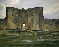 Porte de la Reine at Aigues-Mortes by Frederic Baz