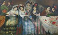Ricardo Canals 1876-1931   A BALCONY AT THE BULLFI