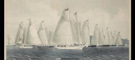 sail away by Currier & Ives, 1854