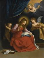 Studio of Guido Reni THE VIRGIN SEWING