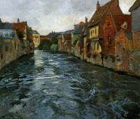 Thaulow, Frits, riverscape