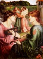 The Bower Meadow , Dante Gabriel Rossetti, 1872