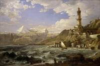 The Coast of Genoa by Jasper Francis Cropsey