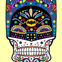 Batman Sugar Skull Art Prints & Posters by David Caldevilla