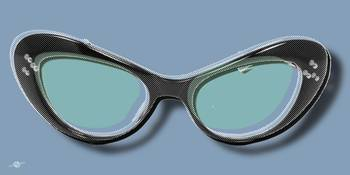 Retro Glasses Funky Pop Blue Teal