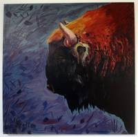 Bison on mixed background