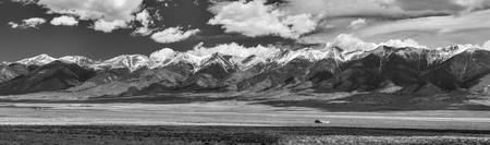 San de Cristo Mountains Panorama in Black and Whit