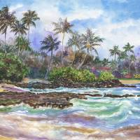 Warm Waves on Kauai's Coconut Coast Art Prints & Posters by Jenny Floravita