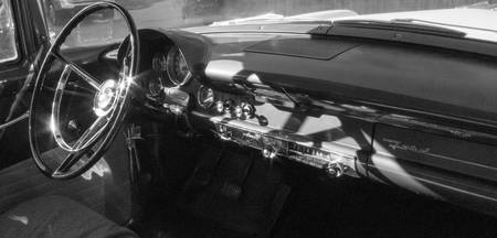 Ford dashboard BLACK & WHITE