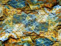 Abstract Nature Tropical Beach Rock 472 Blue Orang