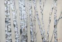 White Woods on Linen