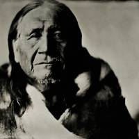 Waylon Black Crow, Sr. in Wet Plate Collodion Art Prints & Posters by Shane Balkowitsch