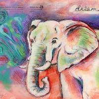 Dreamy Elephant Art Prints & Posters by Sidney Copson