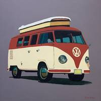 VW Camervan red