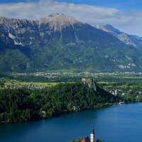 View of Lake Bled from Mala Osojnica Art Prints & Posters by Ian Middleton