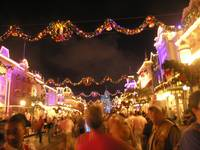 Lights on Main Street Magic Kingdom