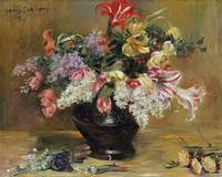 Amaryllis, Lilac and Tulips by Lovis Corinth