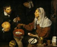 An Old Woman Cooking Eggs by Diego Velázquez