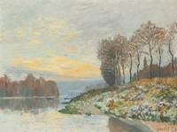 Alfred Sisley 1839 - 1899 NEAR THE SEINE BOUGIVAL