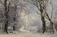 Anders Andersen-Lundby 1840 - 1923   FOREST IN WIN