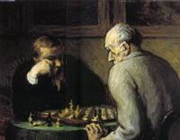 Chess-Players - Honore Daumier