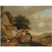 Circle of Cornelis van Poelenburgh AN ARCADIAN LAN