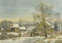 Currier & Ives (Publishers) HOME TO THANKSGIVING A