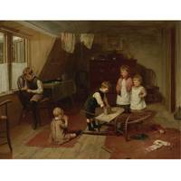 Harry Brooker ACTIVE 1876-1918 BRITISH CHILDREN AT