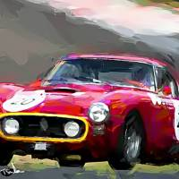 Ferrari-250-GT-SWB Art Prints & Posters by Tom Sachse
