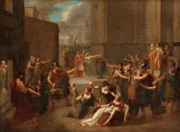 JACQUES LOUIS DAVID CIRCLE OF, GREEKS LEAVING FOR