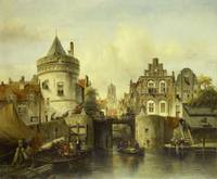 Imaginary View based on the Kolksluis, Amsterdam,