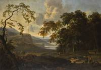 Jan Wijnants WOODED LANDSCAPE WITH TRAVELLERS REST
