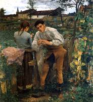 Jules Bastien-Lepage - The Village Lovers 1882