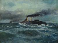 LATRI, MIKHAIL (1875-1942) Warships on the High Se