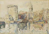 Paul Signac 1863 - 1935 LA ROCHELLE, THE TOWER OF