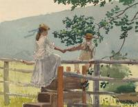 On the Stile by Winslow Homer
