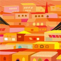 Oaxaca Houses Art Prints & Posters by Charles Harker