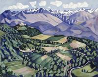 Purple Mountains, Vence by Marsden Hartley