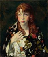 Robert Henri - Edna Smith in a Japanese Wrap - cir